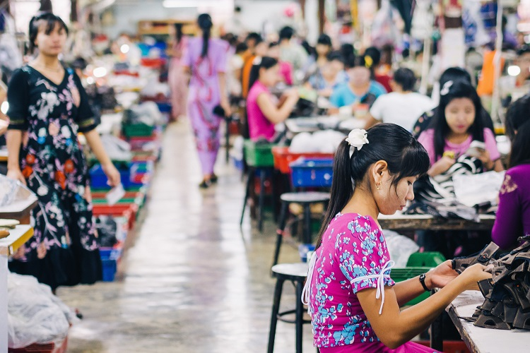 How is COVID-19 affecting the outlook of Myanmar's garments industry?